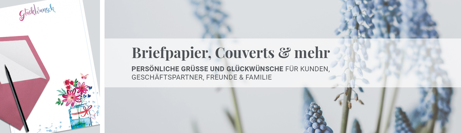 Briefpapier, Couverts & mehr